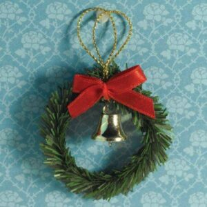 4448 Christmas Wreath, Bow & Bell