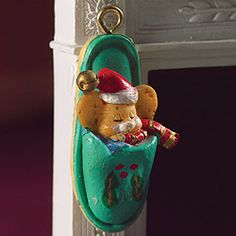 5984 mouse in a slipper christmas