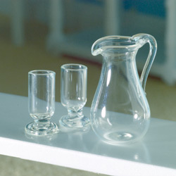 3899 Jug & Two Glasses