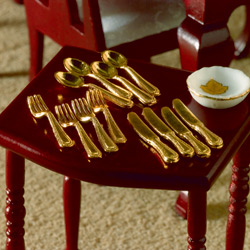 4000 Gold' Cutlery, 12 pieces