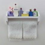 White Shelf with Towels & Toiletries