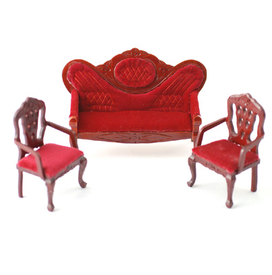 Red upholstered sofa and 2 chair set for Red and white upholstered chairs