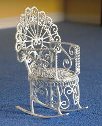 2699 White Wire Chair