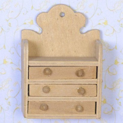 3057 Small Wall Drawers Cabinet Pine