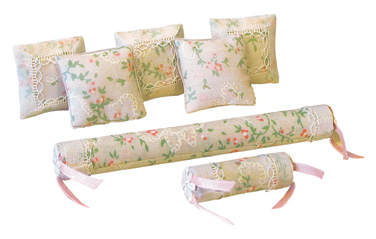 EM Cushion Set Pink Spray.