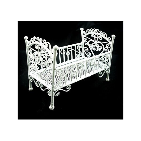 VF0722 White wire nursery cot