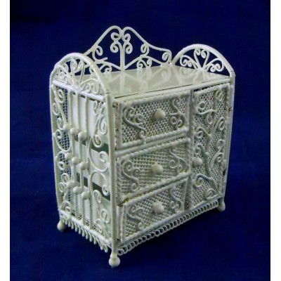 VF1101 White Wire Chest Drawers