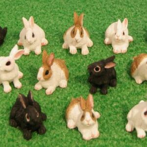Miniature Bunny Rabbits For Fairy Gardens 1:12 scale