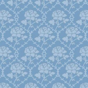 Blue Rose Pattern Wallpaper 5190