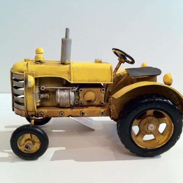 Tin Tractor Yellow