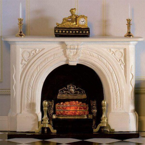 Carved Stone Fireplace 74367436