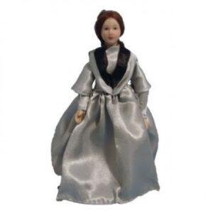 Victorian Lady in Grey Dress Doll DP160