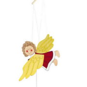 Wooden Mobile Swinging Angel.7637a