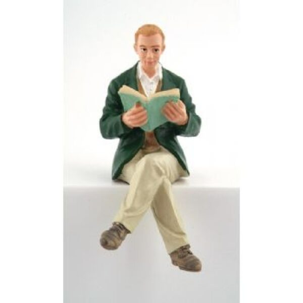 Man Doll Sitting Reading DP204