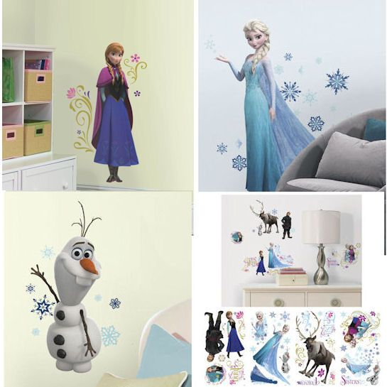 Frozen Interactive Wall Sticker 48 Pce Doll Store