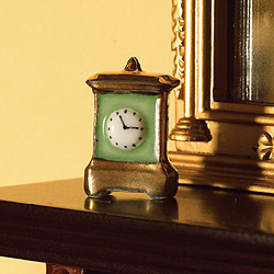 3349 Clock China Green Gold