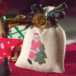 Decorative Santa's sack with tiny 'brass' bell
