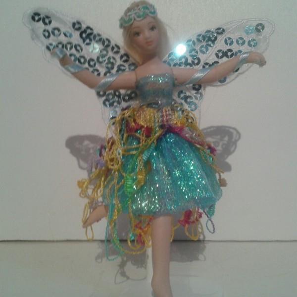 Fairy Doll Porcelain Lavender