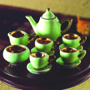 3014 Green China tea set