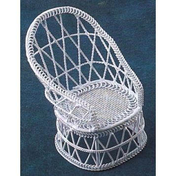 WHITE WIRE CLUB CHAIR