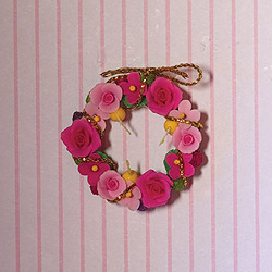 rose door wreath
