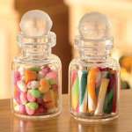 Sweets cakes biscuits glass jar tin bag
