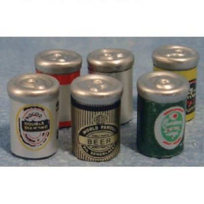 D644 beer cans assorted