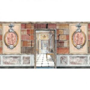 3D Library Paper Door, Books & Plaque DIY262A