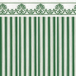 Majestic Stripe Green / White Paper WP614