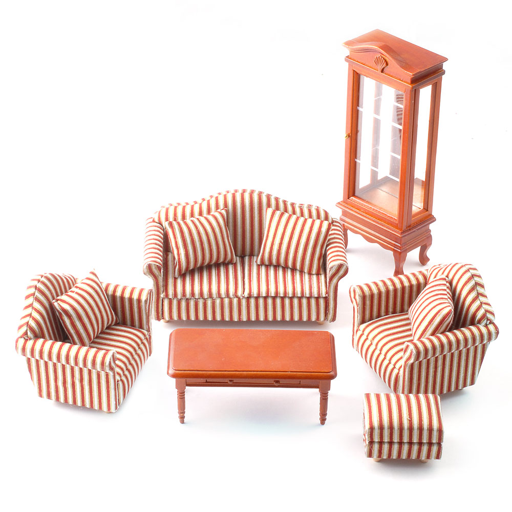 Striped Sofa Living Room Set DF1154