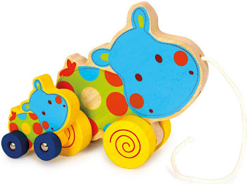 Pull Along  Baby Toy – Hippo.hippo